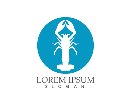 Icon crayfish. Lobster Vector illustration.