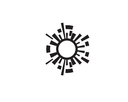 sound wave ilustration logo vector icon template Vettoriali
