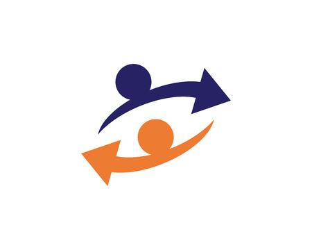 Arrows vector illustration icon Logo Template design,,