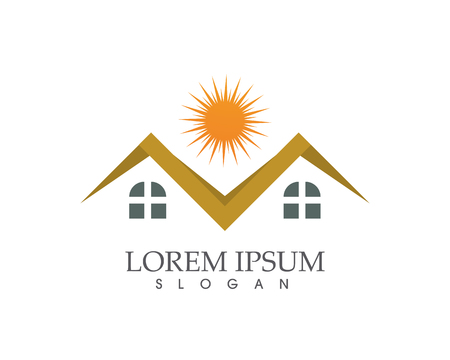 Property and Construction Logo design for business corporate sign, Illustration