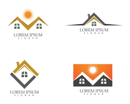 Property and Construction Logo design for business corporate sign, Vector illustration. Illustration