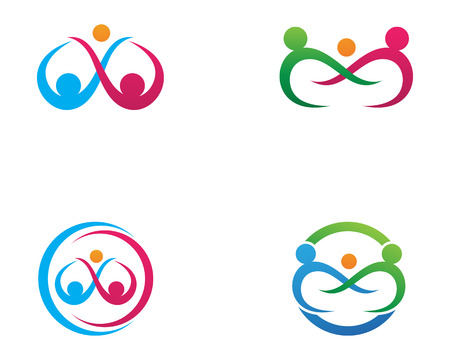 Adoption and community care Logo template vector icon set Illustration
