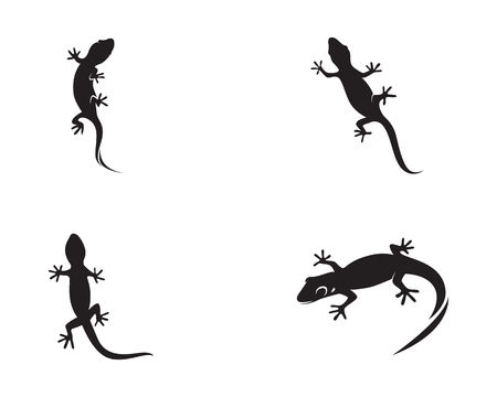 Lizard Chameleon Gecko Silhouette black vector Banque d'images - 98894605