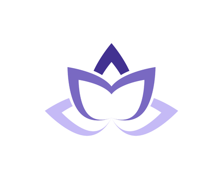 Lotus Flower Sign for Wellness vector illustration. Illustration