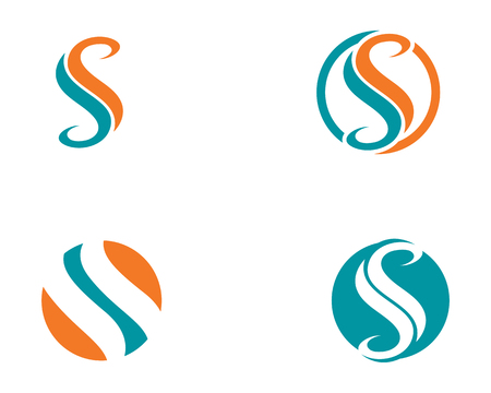 S symbols template vector icons Illustration