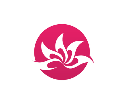 Lotus Flower Sign for Wellness, Spa and Yoga. Vector Illustration