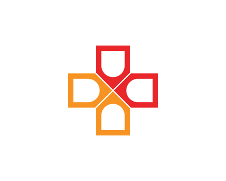 Hospital logo and symbols template icons app, Illustration