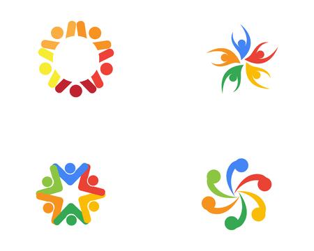 Community people care logo and symbols template Illustration