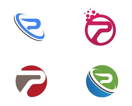 P logo letter Business corporate design vector Ilustração