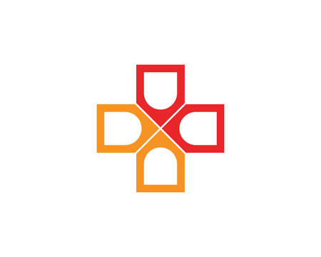 Hospital logo and symbols template icons app Illustration