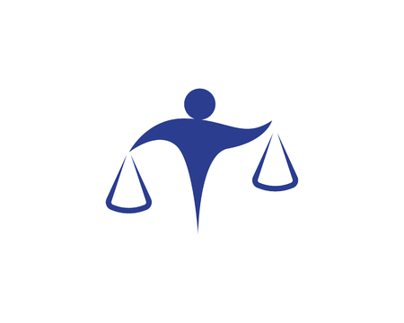 Lawyer people logo and symbols business