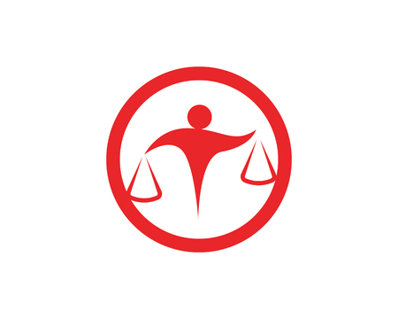 Lawyer people icon and symbols business illustration. Иллюстрация