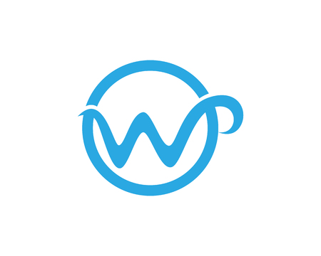 W letters business icon and symbols template