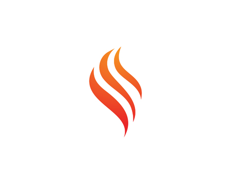 Fire flame nature logo and symbols icons template Иллюстрация