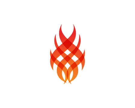 Fire flame nature and symbols icons template.