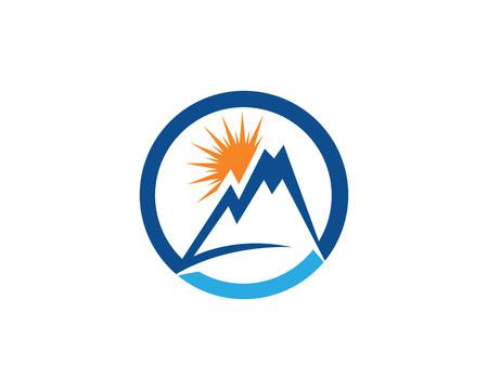 Mountain nature landscape icon and symbols template. Illustration