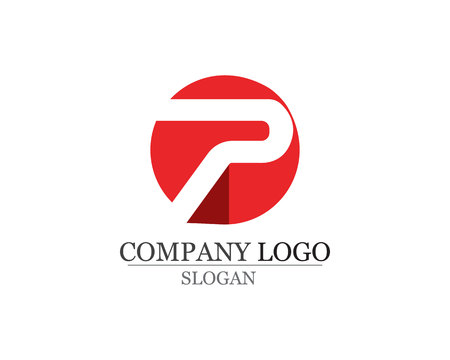 Letter P Business corporate design vector icons. Ilustrace