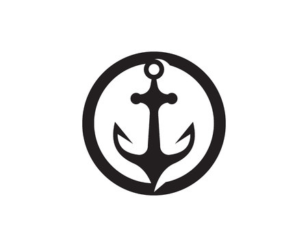 anchor logo and symbol template vector icons app