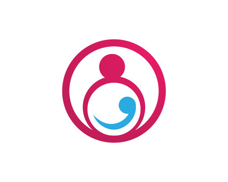 Adoption baby  and community care Logo template vector Illustration