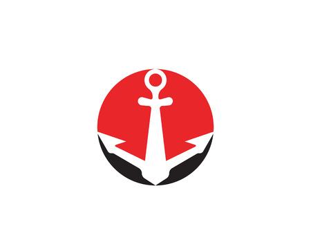 ancoraggio logo e simbolo modello icone vettoriali app