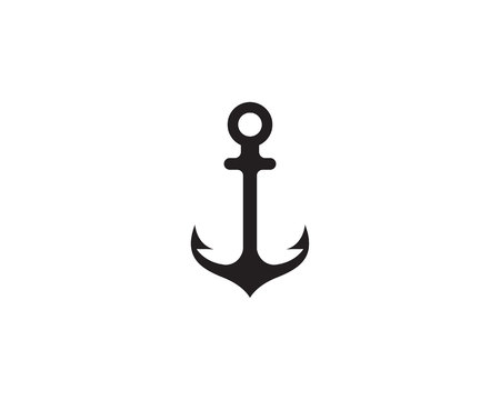 Anchor icon and symbol template vector illustration. Ilustração