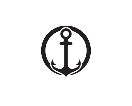 Anchor icon and symbol template vector icons illustration. Illustration