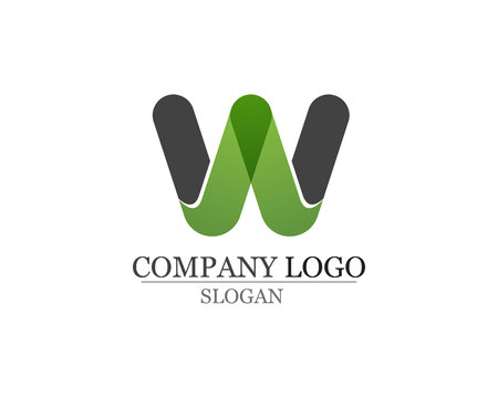 W letters business logo and symbols template Çizim