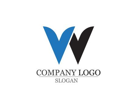 W Buchstaben Geschäftslogo und Symbole Logo