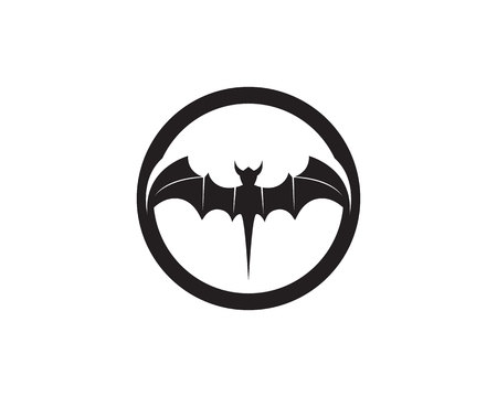 Bat black template white background icons
