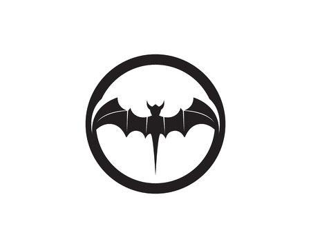 Bat black template white background icons