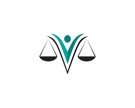 Justice lawyer icon and symbols template icons