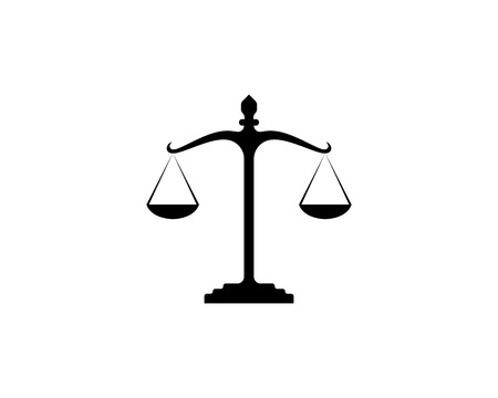 Justice lawyer logo and symbols template icons