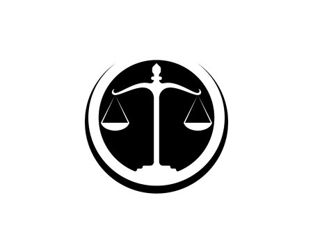 Justice lawyer  and symbols template icons