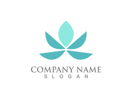 Lotus Flower Sign for Wellness, Spa and Yoga. Vector   Çizim
