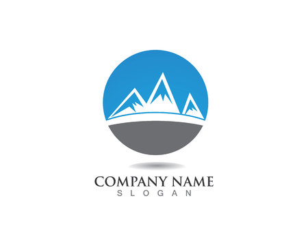 Mountain Logo Business Template Vector