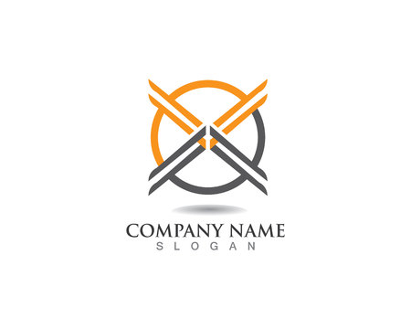 X Letter Logo Template vector icon design