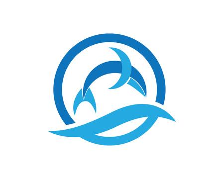 Dolpin jump water symbols