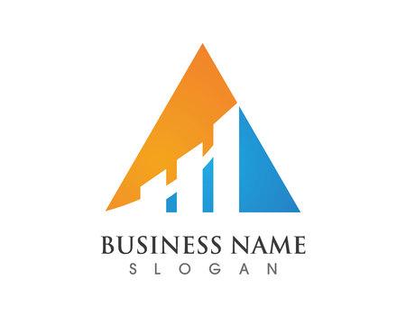 finance logo and symbols vector concept illustration Illustration