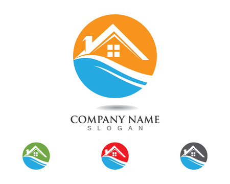 home buildings logo and symbols icons template 일러스트