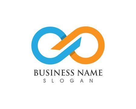 icônes de modèle de logo et symbole infini vecteur Logo