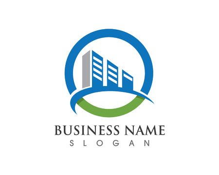Property and Construction Logo design for business corporate sign Vectores