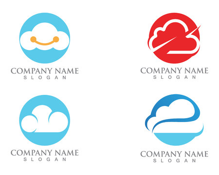 Cloud servers data logo and symbols icons
