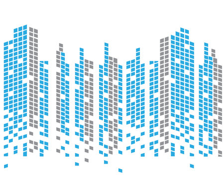 Modern City skyline . city vector illustration in flat design