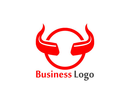 Devil horn icon design illustration Template Иллюстрация