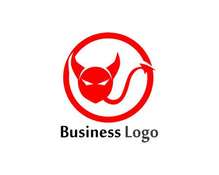 Devil horn icon design illustration Template Иллюстрация