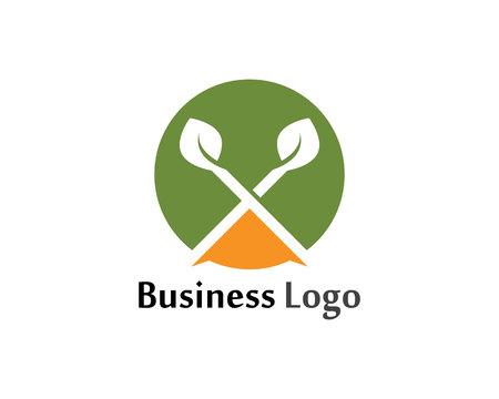 Tree Leaf logo  Vector icon Illustration design template