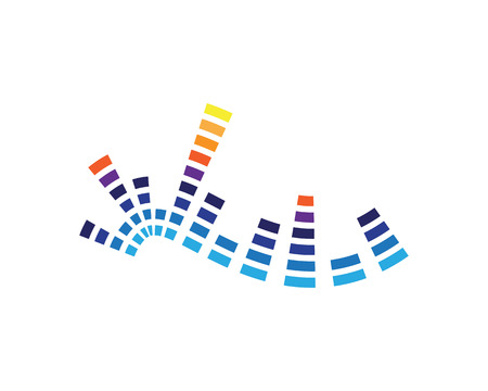 sound ilustration logo vector icon template  イラスト・ベクター素材