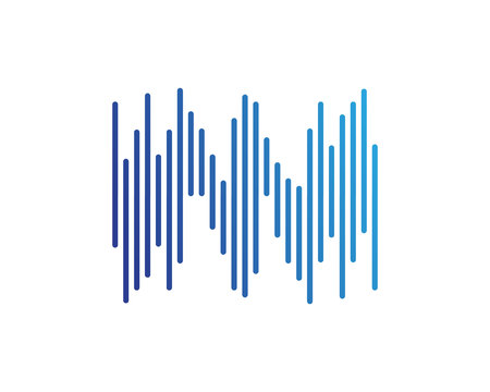 sound ilustration logo vector icon template Ilustração