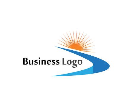 River logo and symbols vector Template