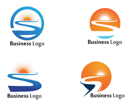 River logo and symbols vector Template